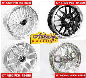 Brand new alloy rims 17 inch mags from R4950 set of 4.