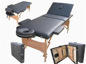 Massage Table Bed - 3 Section (Wooden)