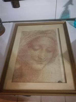 Old framed sketch for sale