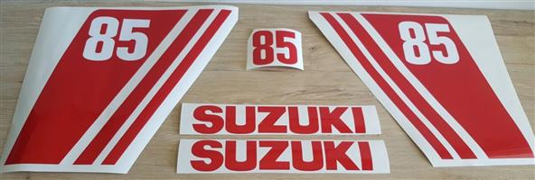 1970's Suzuki 85 Outboard motor cowl decals stickers  graphics kits