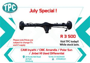 CAM Inyathi / CMC Amandla / Polar Sun/ Jinbei H1 Used Differential for Sale at TPC