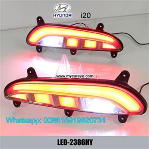 Hyundai i20 Sport LED running Bumper Turn Signal Brake Lights lamps