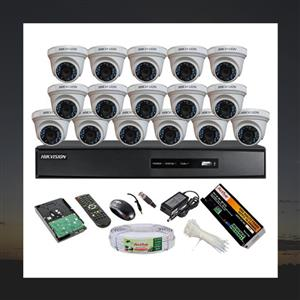 CCTV SYSTEM HD 1MP 16 CHANNEL.