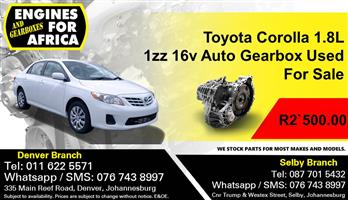 Toyota Corolla 1.8L 1zz 16v Auto Gearbox Used For Sale