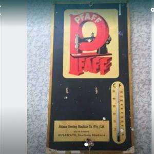 Phaff vintage cardboard sign