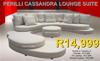 PERILLI CASSANDRA Full-Moon Suite with Chaise/Day-Bed & Ottoman