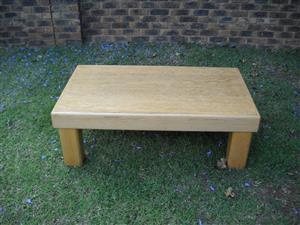 Oak finish coffee table