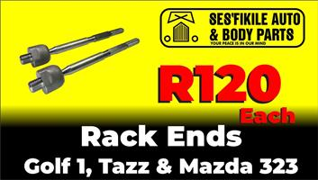 Rack ends for Mazda 323, Tazz, Golf 1.