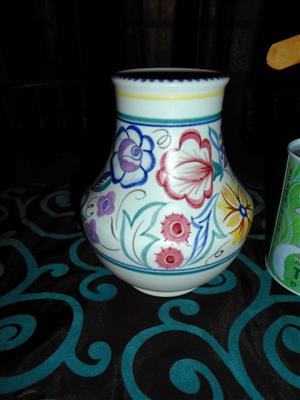 Vintage Poole Pottery Traditional Vase Signed LE Hand Painted Birds