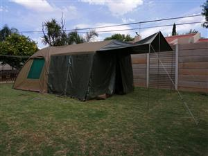 Gemsbok Canvas Bow Tent with Extension