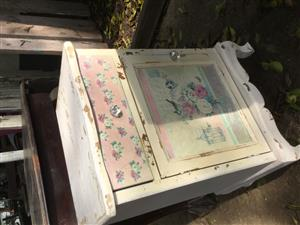 Shabby chic FRENCH style bedside pedastals each
