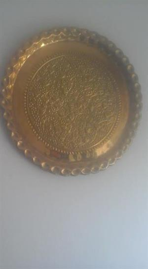 Golden decor plate for sale