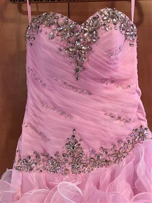 Pink and White Ball gown