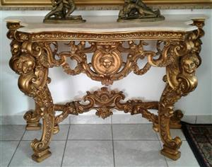 Entrance Hall Table with Marble Top
