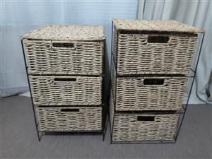 Basket bedside tables