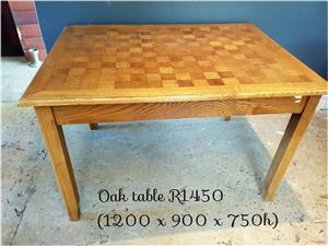 Oak wooden block table for sale