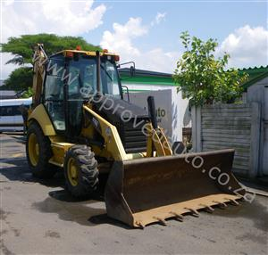 2006 - CAT 416E  front loader with back hoe used  - AA2968
