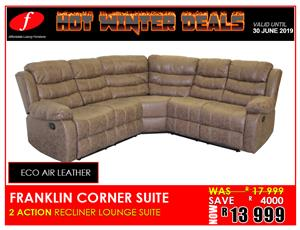 CORNER LOUNGE SUITE FRANKLIN BRAND NEW  LOUNGE SUITE FOR ONLY R13 999 ON PROMOTION