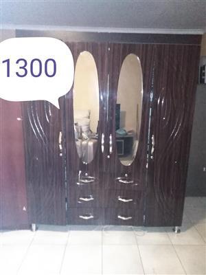 Double door wooden closet for sale