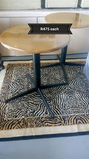 Varnished round tables for sale