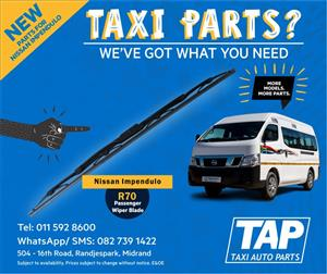 NEW parts for Nissan Impendulo - Passenger Wiper Blade - Taxi Auto Parts - TAP