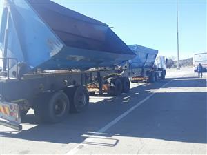 Side Tipper trucks for rental.