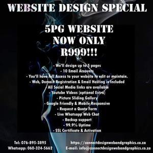 5pg website design special