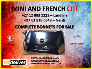 Bonnet for mini coopers for sale