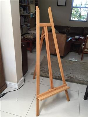 Prime Art Wooden Studio A-Frame Easel with movable horizontal support