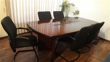 Board table with 6 chairs