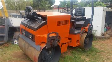 1X Fully Serviced Hamm HD12 2.5 tons Ride On Roller For Sale