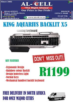 KING AQUARIUS BACKLIT X5 GAMING KEYBOARD