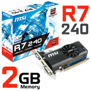 MSI Radeon R7 240 2GB Graphics Card