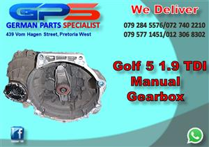 VW Golf 5 1.9 TDI Manual Gearbox for Sale