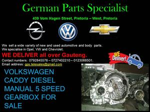 VOLKSWAGEN CADDY DIESEL MANUAL 5 SPEED GEARBOX FOR SALE