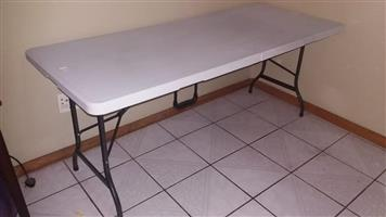 White top fold up table for sale