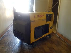 KIPOR GENERATOR 5KVA SUPER SILENT PRIME POWER FOR SALE