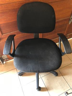 Black typist chair