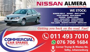 Nissan Almera 2006 Spares and parts for sale