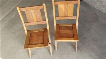 Wooden fold up chairs for sale