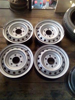 Ford Ranger steel rims for a spare wheel  both black and silver color