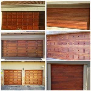 MERANTI WOODEN GARAGE DOORS JOHANNESBURG