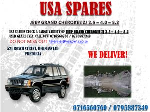 JEEP GRAND CHEROKEE 2.5 4.0 5.7 GEARBOXES- FOR SALE