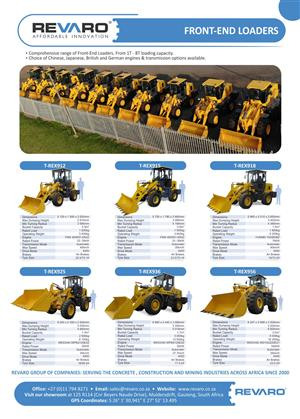 Revaro Front end loaders High quality and Affordable Innovation