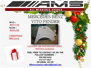 CHRISTMAS SPECIALS !!!! MERCEDES BENZ VITO FENDER FOR SALE