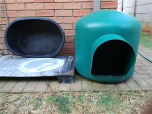 igloo dog house and dog basket