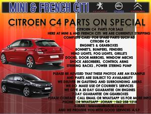 USED PARTS FOR SALE ON CITROEN C4