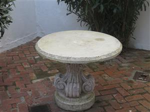 Cement Garden Table