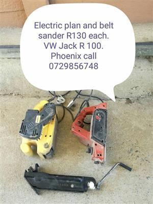 Electric plane and belt sander for sale