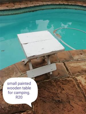 Small painted wooden camping table